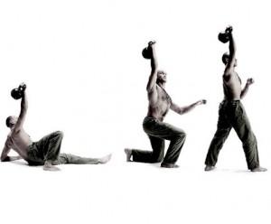 Kettlebell Training - Get-up - Pavel Tsatsouline, Foto vom riva Verlag