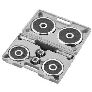Kurzhantel-Set Kettler® Chrom mit Hartschalenkoffer